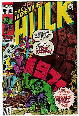 Marvel Comics THE INCREDIBLE HULK Issue 135 In The Fury Of The Time Storm VF