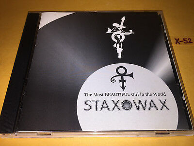 PRINCE single MOST BEAUTIFUL GIRL IN THE WORLD cd STAXOWAX + SEXY Staxophone