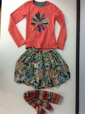 Oilily Girls Outfit 3 Piece, Size 140 Age 10 Years Skirt Top VGC
