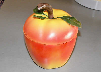 Vintage RETRO APPLE ICE BUCKET 60s 70s Plastic KITSCH BAR Mid Century Modern