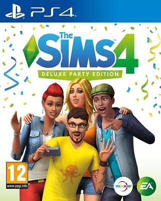 The Sims 4 Deluxe Party Edition PS4 Brand New Sealed Game PEGI 12