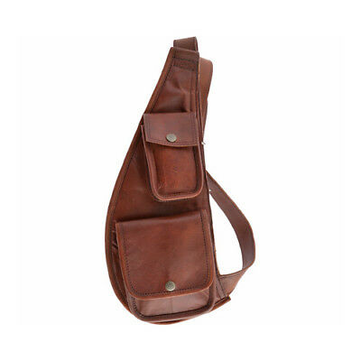 dc728f76eb5f SHARO Genuine Leather Bags Women s Sling Over Shoulder Cross Body Bag Brown