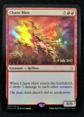 MTG 1x CHAOS MAW Hour Of Devastation Pre-Release Promo Foil