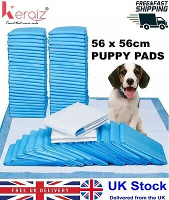 60x60CM 100 SUPER ABSORBENT PUPPY TRAINING PADS TRAINER TOILET WEE MATS FOR DOGS
