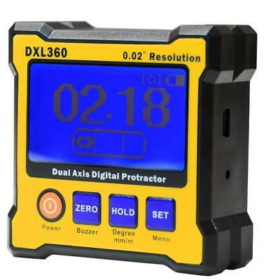 DXL360 Dual Axis Resolution Digital Angle Protractor Inclinometer Level Meter