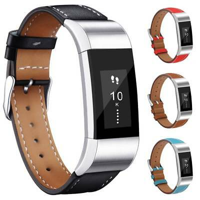 FOR Fitbit CHARGE 2 Replacement Bands Genuine Leather Strap Wristband Bracelet