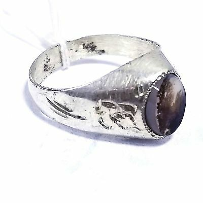 925 sterling silver antique natural dendritic agate aqeeq middle eastern jewelry