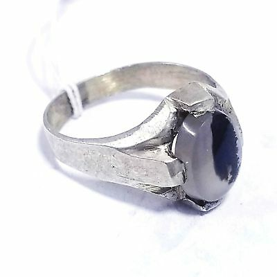 handmade vintage  sterling silver ring antique natural dendritic agate aqeeq