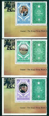 TURKS & CAICOS *1981*compl.set 3 stamps+labels*MNH** Royal Wedding - Mi.No 542-3