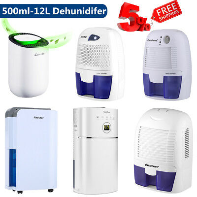 500ml-12L/D Pro Dehumidifier Portable Air Dryer Purify Damp Mould Moisture Home
