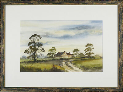 Digby Page, original watercolour 'Rural Farmhouse' signed & framed