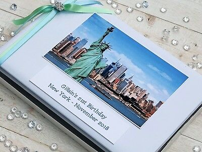 Personalised New York Theme Guest Book in Box Birthday Scrapbook/Album 18th 21st