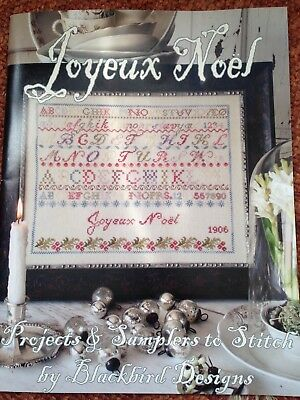 Blackbird Designs, Joyeux Noel Booklet Cross Stitch Chart, New