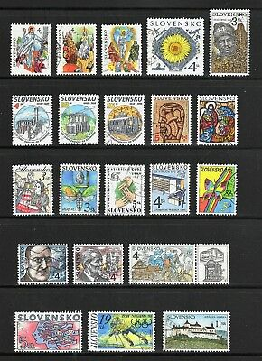 Slovakia -- 21 diff used commemoratives from 1997-99
