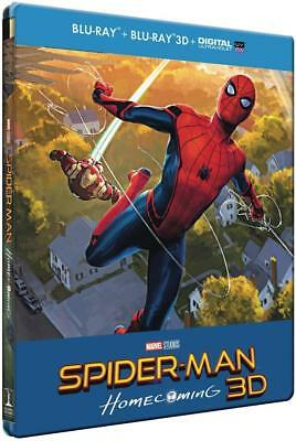 Spiderman Homecoming  Blu-Ray 3D + 2D  Coffret  Steelbook Neuf Sous Blister
