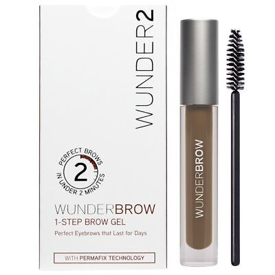 WUNDERBROW Brow Gel Perfect Eyebrows In 2 Mins - Brunette - Brand New
