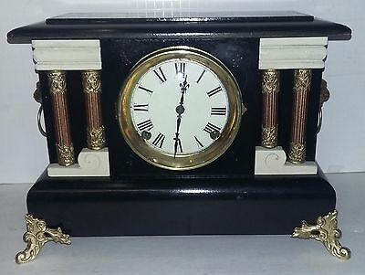 Beautiful Antique Working Sessions Mantel Clock
