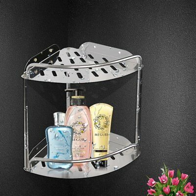 Stainless Steel Hanging Shower Bathroom Chrome Caddy Storage Shelf Mount EK