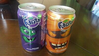 Puerto Rico Fanta Miniature small  Limited Edition Halloween cans set of 2 !