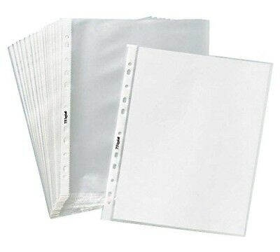200 Sleeves Clear Plastic Sheet Page Protectors Document Office Ring Binder New