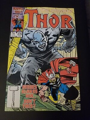 The Mighty Thor Issue 376 Marvel Comics