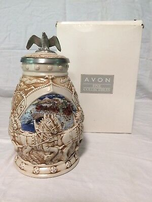 2002 Avon Budweiser WORLD FAMOUS CLYDESDALE'S HITCH Stein MINT Rare