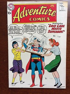 "Adventure Comics #261 DC 1959 ""Lois Lane Meets Superboy!"""