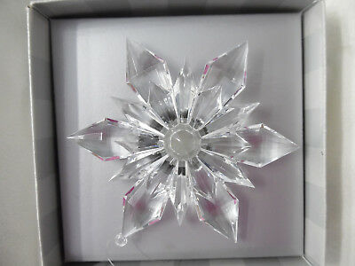 Dept 56 Northern Lights White LIT SNOWFLAKE ORNAMENT with Pigtail ~ in BOX