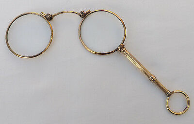 Victorian Rolled Gold Folding Lorgnettes - Antique Spectacles / Magnifying