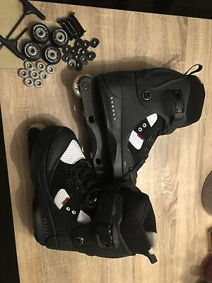 Anarchy Chaos 3 Aggressive Inline Skates Size 9 With Bone Red Bearings