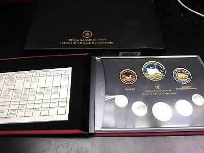 Royal Canadian Mint 2010 Proof Coin set W/ Sterling Silver Dollar