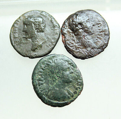 Lot of 3x AE Roman Provincial Coins D=18mm