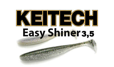 "NEW! Keitech Easy Shiner 3,5"" soft body paddle tail swimbait bass lure"