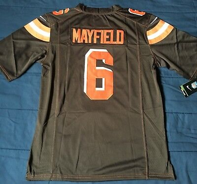 outlet store 28402 0cae8 NWT BAKER MAYFIELD Cleveland Browns SEWN MENS Nike Jersey Men's S NFL  Football