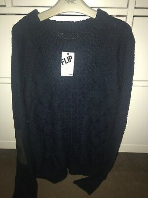Boys/girls Knit Jumper.  Black. Age 13-14. New.