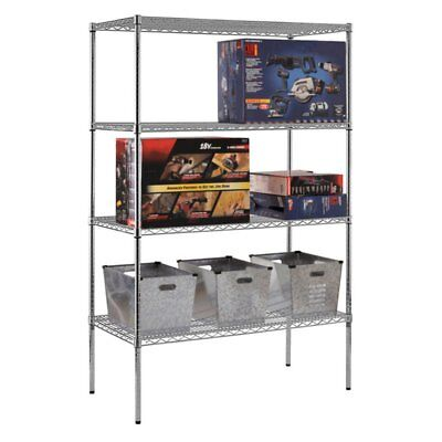 Sandusky Lee 48 x 24 in. NSF Chrome Wire Shelving