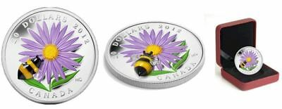 2012 Canada $20 Aster with Venetian Glass Bumble Bee - Fine Silver Coin