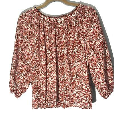 67df7c5b94245 LIBERTY FABRICS J. Crew Womens Red Floral On Off Shoulder Blouse Top Size  Small -  25.89