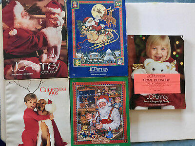 Five Penney's Christmas Catalogs 1993  1994  1995  1996  1998