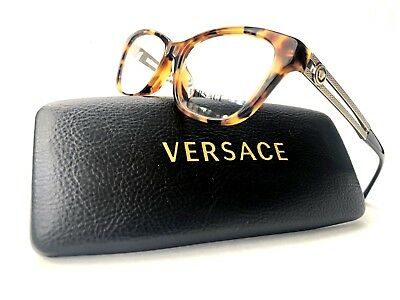 New VERSACE Frames Cat Eye Acetate Tortoise RX Eyeglasses VE 3220 5119 52-16