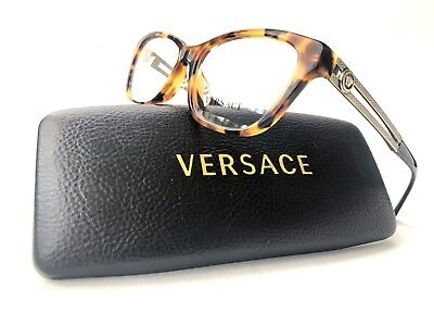 New VERSACE Frames Cat Eye Havana Gold RX Designer Eyeglasses VE 3220 5119 54 mm