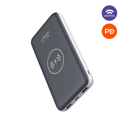 USB C Power Bank Qi Wireless Charging Portable Charger Battery Pack Fast Charge