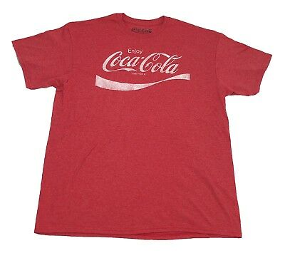 Coke Enjoy Refreshing Coca-Cola Logo Vintage Retro Classic Drink Men's T Shirt