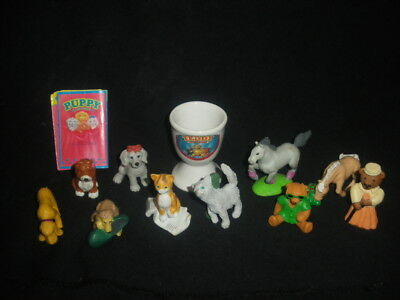 Vintage Collection 10 x Puppy Kitty Teddy Pony in my Pocket, eggcup &  leaflet