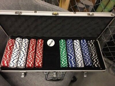 Poker Chips and Metal Carrying Case - *DISCOUNTED*