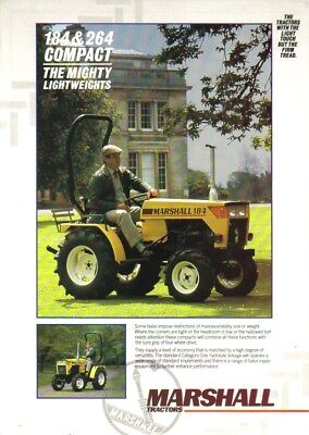 Marshall 184 & 264 Compact Tractor Brochure. Immaculate Condition. Rare Vintage.