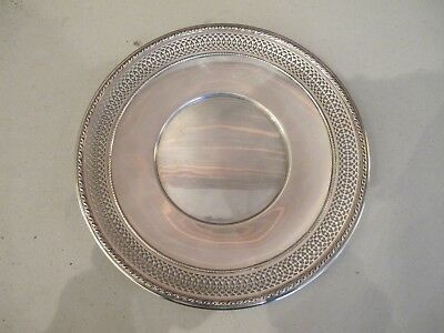 Antique Gorham Sterling Silver .925 Reticulated Plate Tray Charger 278grams 9.5'