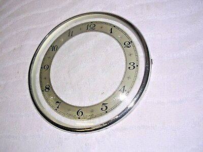 Clock  Parts ,  Chrome Bezel,  With  Chapter  Ring