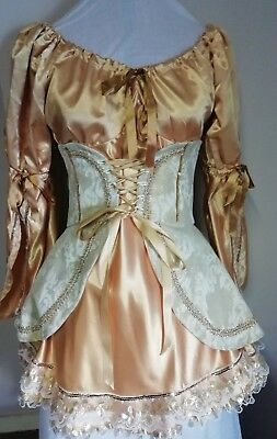 Theatrical costume. Gold. Good for Pantomime. Dress & corset.