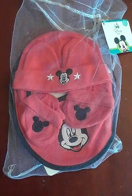 M icky Mouse 0 - 6 Months 4 Pc  Gift Set